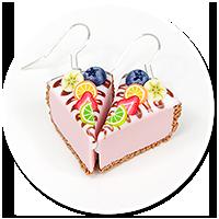 kolczyki sernik z owocami nr 4