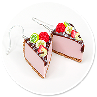 earrings cheese cake (fruits) no. 5
