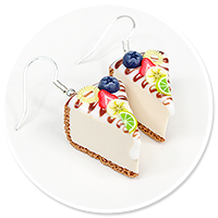 earrings cheese cake (fruits) no. 2