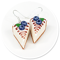 earrings cheese cake (blueberry) no. 2