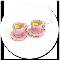kolczyki filiżanki herbata z cytryną nr 5