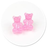 plug-in earrings jelly bear