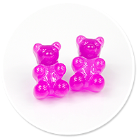 plug-in earrings jelly bear no. 4
