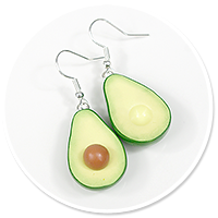 earrings avocado