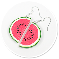 earrings watermelons no. 2