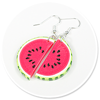 earrings watermelons