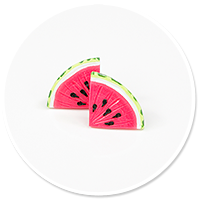 plug-in earrings watermelons