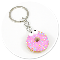 keyring with donut no. 8