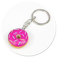 keyring with donut no. 6