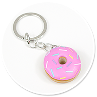 keyring with donut no. 5