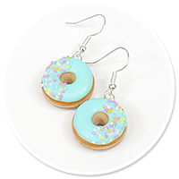 earrings donuts with sprinkles no. 10
