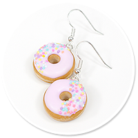 earrings donuts with sprinkles