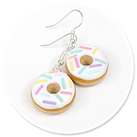 earrings donuts with sprinkles no. 4