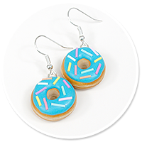 earrings donuts with sprinkles no. 12