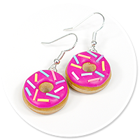earrings donuts with sprinkles no. 9