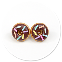 plug-in earrings donuts