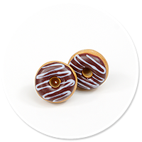 plug-in earrings donuts no. 11