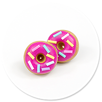 plug-in earrings donuts no. 2