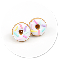 plug-in earrings donuts no. 5