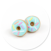 plug-in earrings donuts no. 8
