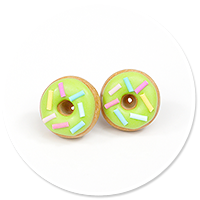 plug-in earrings donuts no. 7