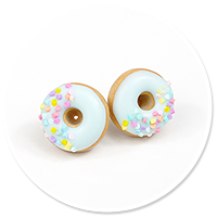 plug-in earrings donuts no. 16