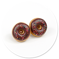 plug-in earrings donuts no. 12