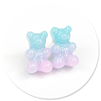 plug-in earrings jelly bear no. 6