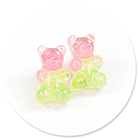 plug-in earrings jelly bear no. 5