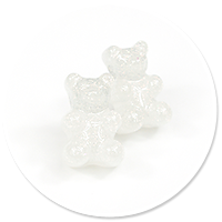 plug-in earrings pastel teddy bear no. 4