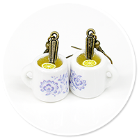 earrings mugs of tea no. 2