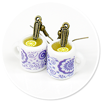 earrings mugs of tea no. 3