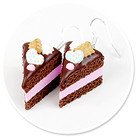 earrings chocolate cake no. 4