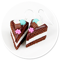earrings chocolate cake no. 6