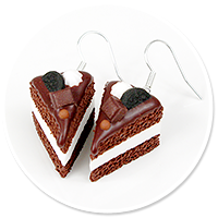 earrings chocolate cake no. 8