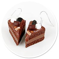 earrings chocolate cake no. 9