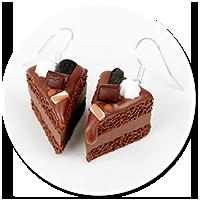 kolczyki torty czekoladowe nr 9