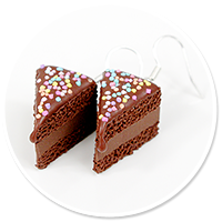 earrings chocolate cake with sprinkles