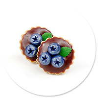 plug-in earrings tart with blueberries no. 4