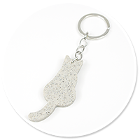 keyring cat from stone