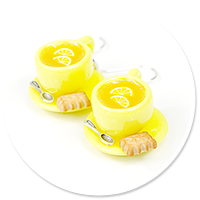 earrings cups with tea no. 6
