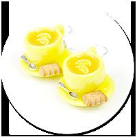 kolczyki filiżanki z herbatą nr 6