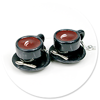 earrings cups of coffee no. 4