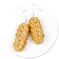 earrings with challah