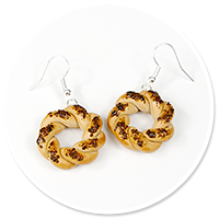 earrings with bagels