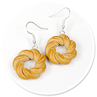 earrings with bagels no. 2