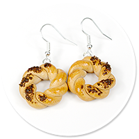 earrings with bagels no. 3