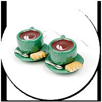 kolczyki filiżanki z kawą nr 5