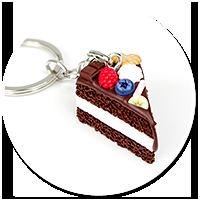keyring with chocolate cake no. 5