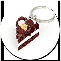 breloczek tort czekoladowy nr 6